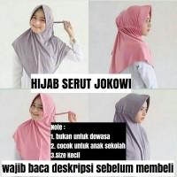 Hijab instan SERUT JOKOWI / hijab serut sekolah bergo instan jilbab