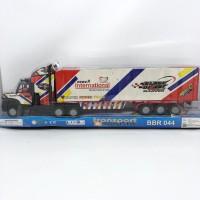 Mainan anak truck trailer logistik / mobil container / mobil barang