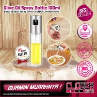 Botol Minyak Spray Olive Oil BBQ Chinese Food 100ml - Silver