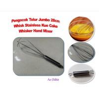 Pengocok Telur Jumbo 28cm Stainless Kue Cake Whisker Hand Mixer