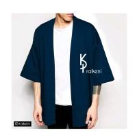 Kimono Pria Biru | Outer Pria Biru | Jaket & Vest Pria | Cardigan Pria