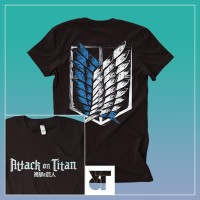Baju Anime Kaos Attack On Titan Logo