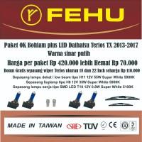 Paket OK bohlam plus LED untukTerios tipe TX 2013 - 2017 sinar putih