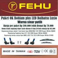 Paket OK bohlam Fehu plus LED untuk Daihatsu Luxio. Warna sinar putih