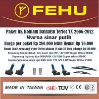 Paket OK bohlam Fehu plus LED untuk Terios TX 2006-2012 sinar putih
