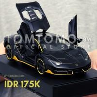 Lamborghini Centenario M Black Tomtomo Diecast Miniatur Mobil Kado