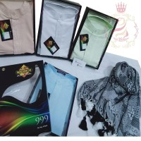 Wadimor Baju Koko Baju Muslim Kemeja Lengan Panjang Premium Spesial