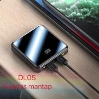 Powerbank Laser DL05 10000mAh ORI Full Screen Mini mirror Garansi 1Bln - Hitam