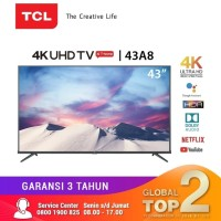 "TCL 43A8 Smart LED UHD 4K TV 43Inch 43"" With Android"