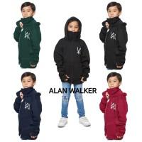 jaket sweater anak ninja alan walker hoodie zipper Hitam Navi Merah