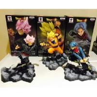 Action figure Dragon ball anime Black Goku Trunks soul set 3pcs soul