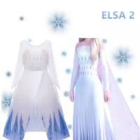 Kostum Putih Elsa Frozen 2 Princess CG64