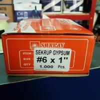 "Sekrup skrup gipsum gypsum Sunray 1"" isi 1000 pcs 2cm 2,5cm"