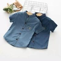 Kemeja Anak 1-7 Tahun Bahan Jeans (Kemko Motif Gajah)