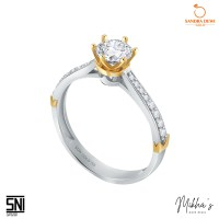 Cincin Sandra Dewi Gold Mikha Gold Princess Crown Collection 3WZ1203