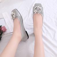 Flat shoes wanita Gio Saverino Moscow gucci ballerina tipe terbaru - BLACK, 36