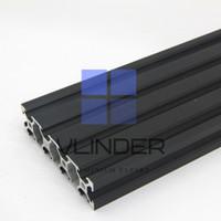 V Slot 2080 Aluminium CNC Track - Industrial Black