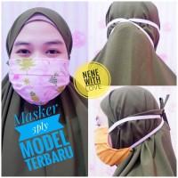 Masker Kain 3 Ply Masker Kain Hijab Non Hijab Headloop Modis Antivirus