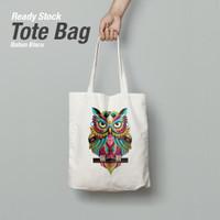 TOTE BAG BLACU + SABLON Wpap Art OWL
