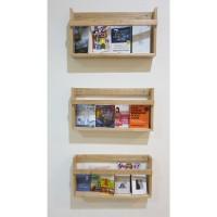 Rak buku dinding wall book rack kayu wood wooden