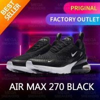 Nike Air Max 270 Black White Sneakers Original - 44