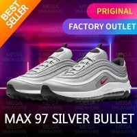 "Nike Air Max 97 Golf ""Silver Bullet"" Original Sneakers - 41"