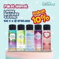 Lavme Anti Bacterial Spray 400ml - Paket Hemat 5pcs Disc 10%