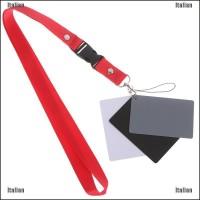 1Pc Digital Gray Card Bahan Plastik Ukuran 2.2X3.3In Dengan Strap