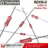 100R 0.5W 2% Takman REX50-G Carbon Film Resistor REX 100 ohm