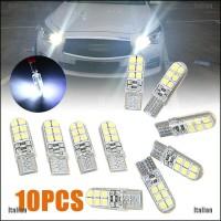 Itali 10Pcs Lampu Led Xenon T10 12Smd W5W 2835 Warna Putih