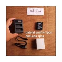 BARU baterai batre dual cas charger kamera Nikon en el14 d3100 d3200 d