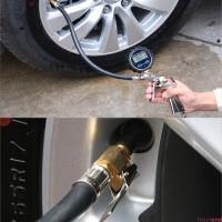 Tire Pressure Gauge Universal Monitoring Long Tube LCD Digital for