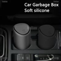 Itali Tempat Sampah Mini Warna Hitam Untuk Mobil
