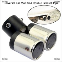 Pipa Knalpot Ganda Bahan Stainless Steel Untuk Modifikasi Mobil