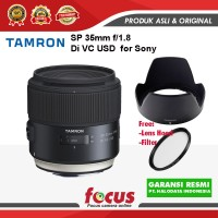 Tamron SP 35mm f/1.8 Di VC USD Lensa Kamera for Sony +Fltr67mm- RESMI