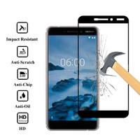 * Nokia 61 2018 - Full Cover Full Lem Tempered Glass 5d - Hitam