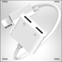 Itali Dual Adapter Charger & Headphone Jack Untuk Iphone 7 8 Plus