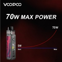 Voopoo Vinci X Mod Pod Vape Kit Single 18650 Battery 70w Include 5