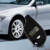 1PC Mini LCD Digital Auto Tire Air Pressure Keychain Gauge Meter