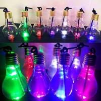 Botol Minum Jus Air Minum Bentuk Bohlam Lampu untuk Pesta