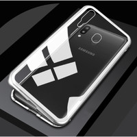 * Samsung A20 A30 - Luxury Magnetic Metal Case - Silver