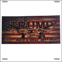 Itali 10Pcs Stiker Bumper Mobil Dengan Tulisan Donald Trump