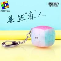 Rubik 3x3x3 Qiyi Gantungan Kunci 3 cm Model cembung/Pillow JELLY