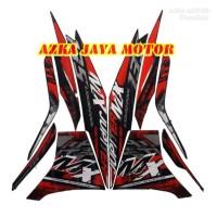 striping Sticker Yamaha Jupiter MX new hitam merah 2014