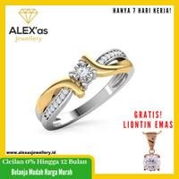 cincin berlian Miraccle one ring natural diamond emas 18k 7 hari vvs