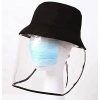 Topi Protektor Anti Virus Corona Bucket Hat Protector Visor Pelindung