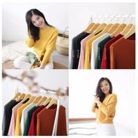Slouchy Sweater - ribbed tebal / baju atasan sabrina / top / blouse