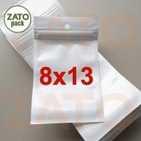 Plastik Klip / Plastik Ziplock Putih 8x13 cm | packaging | kemasan