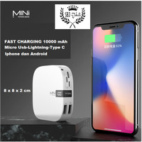 MINI Power Bank 10000 mAh Fast Charging Intelligence LED POWERBANK SB3 - Hitam