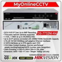 Paket NVR IP Camera Hikvision DS-7732NI-K4 32 CH Onvif Kamera CCTV